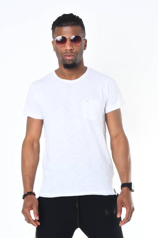 DAVID&GERENZO - Beyaz Bisiklet Yaka Basic Erkek T-shirt