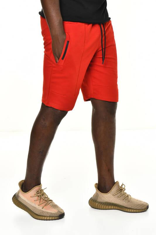 DAVID&GERENZO - Kırmızı Cep Detay Basic Şort