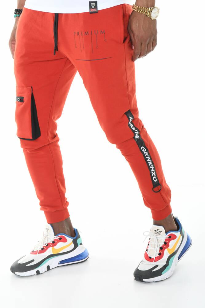 Ribana Paça Kargo Cepli Kiremit Jogger Pantolon
