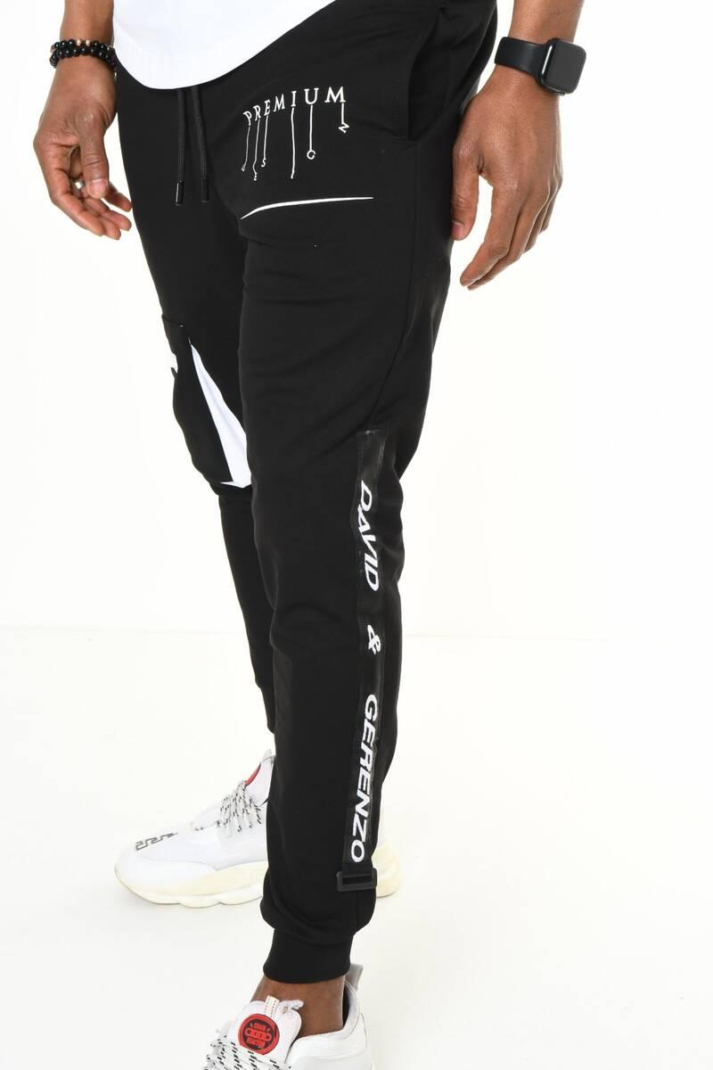 Ribana Paça Kargo Cepli Siyah Jogger Pantolon