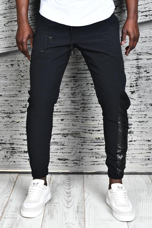 DAVID&GERENZO - Siyah Baskı Detay Kargo Cepli Pantolon