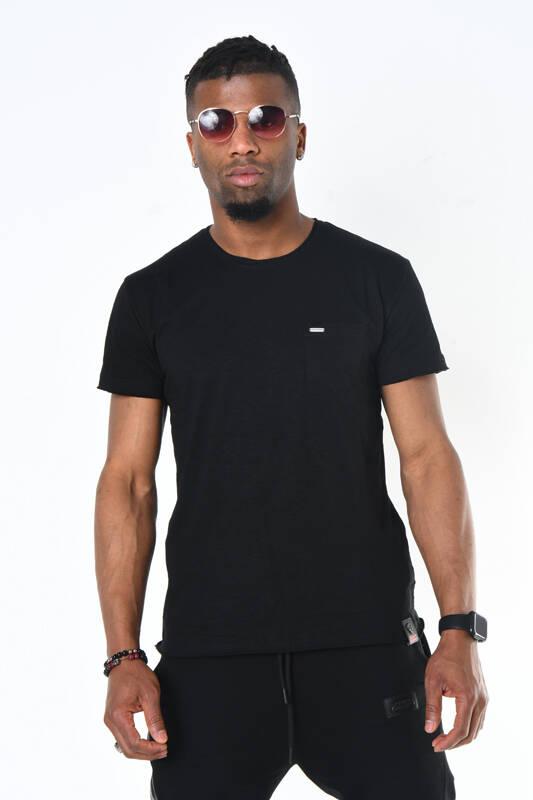DAVID&GERENZO - Siyah Bisiklet Yaka Basic Erkek T-shirt