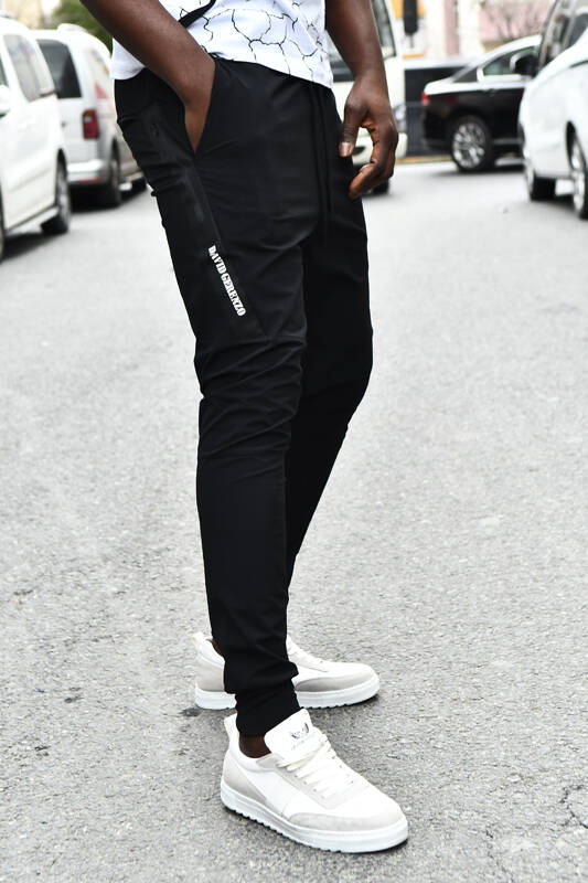 DAVID&GERENZO - Siyah Cep Detay Kargo Cepli Pantolon