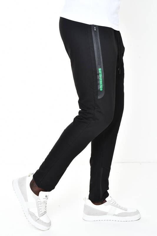DAVID&GERENZO - Siyah Fermuarlı Cep Detaylı Basic Eşofman Altı