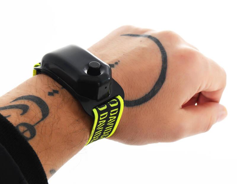 Siyah Neon Şeritli El Dezenfektan Bilekliği
